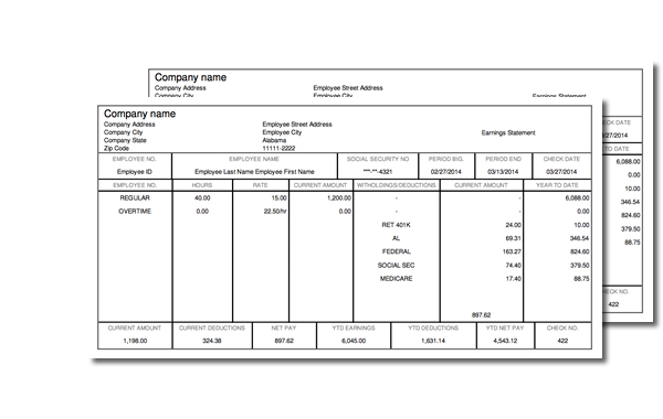 Payroll Pay Stub Template. Sample Pay Stub Template 24+ Download ...