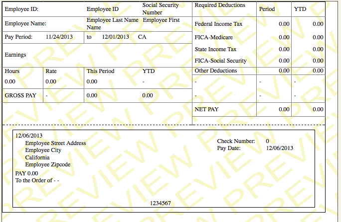 Sample pay stub template for Paycheck stub template in microsoft word